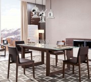 Modrest Brown Oak & Gray Glass Extendable Dining Table Available Online in Dallas Fort Worth Texas
