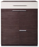 Amie Brown Oak And Grey Gloss Chest Available Online in Dallas Fort Worth Texas