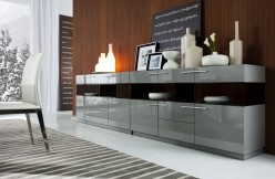 Daytona Grey High Gloss Buffet Available Online in Dallas Fort Worth Texas