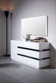 Polar White Gloss Dresser Available Online in Dallas Fort Worth Texas