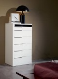 Impera White Lacquer Bedroom Chest Available Online in Dallas Fort Worth Texas