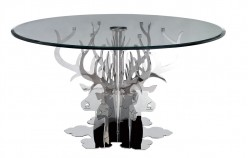 VIG Temptation Hamlet Round Luxury Glass Dining Table Available Online in Dallas Fort Worth Texas