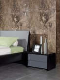 Nova Domus Stone Grey & Black Nightstand Available Online in Dallas Fort Worth Texas