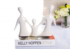 Silver Family Sculpture Available Online in Dallas Fort Worth Texas