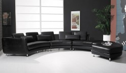 VIG Arzo Black Sectional Sofa Available Online in Dallas Fort Worth Texas