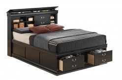 Louis Philippe Black King Storage Bed Available Online in Dallas Fort Worth Texas