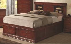 Coaster Louis Philippe Cherry Queen Storage Bed Available Online in Dallas Fort Worth Texas
