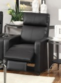 Toohey Black Recliner Available Online in Dallas Fort Worth Texas