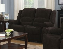 Coaster Gordon Dark Brown Reclining Loveseat Available Online in Dallas Fort Worth Texas