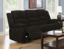Coaster Gordon Dark Brown Reclining Sofa Available Online in Dallas Fort Worth Texas