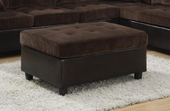 Mallory Chocolate Velvet Ottoman Available Online in Dallas Fort Worth Texas