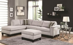 Coaster Mason Grey Sectional Available Online in Dallas Fort Worth Texas