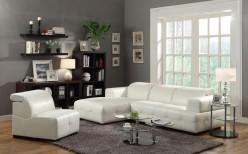 Coaster Darby White Left Chaise 2pc Sectional Available Online in Dallas Fort Worth Texas