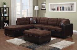 Mallory Chocolate 2pc Sectional Available Online in Dallas Fort Worth Texas