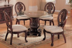 Coaster Tabitha Round Pedestal Dining Table Available Online in Dallas Fort Worth Texas
