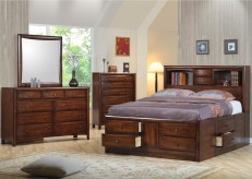 Coaster Hillary Queen 5pc Bookcase Storage Bedroom Group Available Online in Dallas Fort Worth Texas