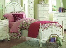 Cinderella White Twin Bed Available Online in Dallas Fort Worth Texas