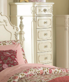 Homelegance Cinderella White Tall Chest Available Online in Dallas Fort Worth Texas