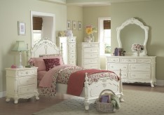 Cinderella Twin White 5pc Bedroom Set Available Online in Dallas Fort Worth Texas