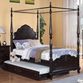 Homelegance Cinderella Cherry Twin Canopy Bed Available Online in Dallas Fort Worth Texas