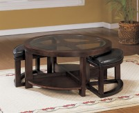 Brussel Glass Top Coffee Table With 2 Stool Available Online in Dallas Fort Worth Texas
