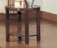 Homelegance Brussel Glass Top Round End Table Available Online in Dallas Fort Worth Texas