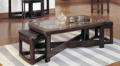 Brussel Rectangular Coffee Table With 2 Stool Available Online in Dallas Fort Worth Texas