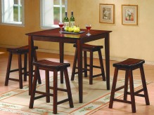 Homelegance Saddleback 5pc Cherry Counter Height Set Available Online in Dallas Fort Worth Texas