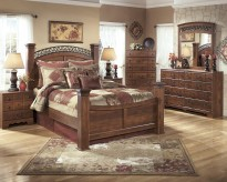 Ashley Timberline 5pc King Poster Bedroom Group Available Online in Dallas Fort Worth Texas