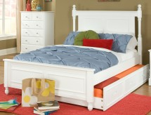 Morelle White Full Over Twin Trundle Bed Available Online in Dallas Fort Worth Texas