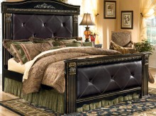 Coal Creek King Upholstered Mansion Bed Available Online in Dallas Fort Worth Texas