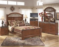 Fairbrooks Estate 5pc Queen Poster Bedroom Group Available Online in Dallas Fort Worth Texas