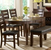 Ameillia Dark Oak Oval Dining Table Available Online in Dallas Fort Worth Texas