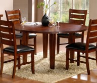Homelegance Ameillia Dark Oak Round Dining Table Available Online in Dallas Fort Worth Texas