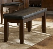 Ameillia Dark Brown 48'' Bench Available Online in Dallas Texas