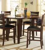 Ameillia Dark Oak Round Counter Height Table Available Online in Dallas Fort Worth Texas
