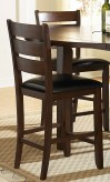 Ameillia Dark Oak Counter Height Chair Available Online in Dallas Fort Worth Texas