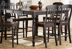 Ohana Black/Cherry Counter Height Table Available Online in Dallas Fort Worth Texas