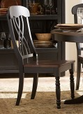 Homelegance Ohana Black/Cherry Side Chair Available Online in Dallas Fort Worth Texas
