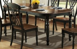 Homelegance Ohana Black/Cherry Oval Dining Table Available Online in Dallas Fort Worth Texas