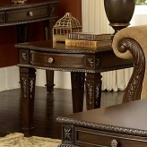 Palace Dark Brown End Table Available Online in Dallas Fort Worth Texas