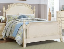Inglewood White Queen Panel Bed Available Online in Dallas Fort Worth Texas