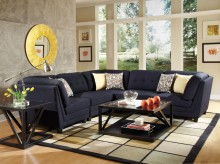 Coaster Keaton Blue Sectional Available Online in Dallas Fort Worth Texas