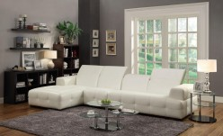 Coaster Darby White Left Chaise 3pc Sectional Available Online in Dallas Fort Worth Texas