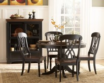 Ohana Black/Cherry 5pc Round Dining Room Set Available Online in Dallas Fort Worth Texas