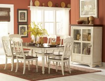 Ohana White 7pc Oval Dining Room Set Available Online in Dallas Fort Worth Texas
