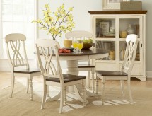 Ohana White 5pc Round Dining Room Set Available Online in Dallas Fort Worth Texas