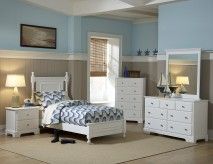 Morelle White Twin 5pc Bedroom Group Available Online in Dallas Fort Worth Texas