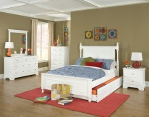 Homelegance Morelle White Full Over Twin 5pc Trundle Bedroom Group Available Online in Dallas Fort Worth Texas
