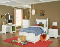 Homelegance Morelle White Twin 5pc Storage Bedroom Group Available Online in Dallas Fort Worth Texas
